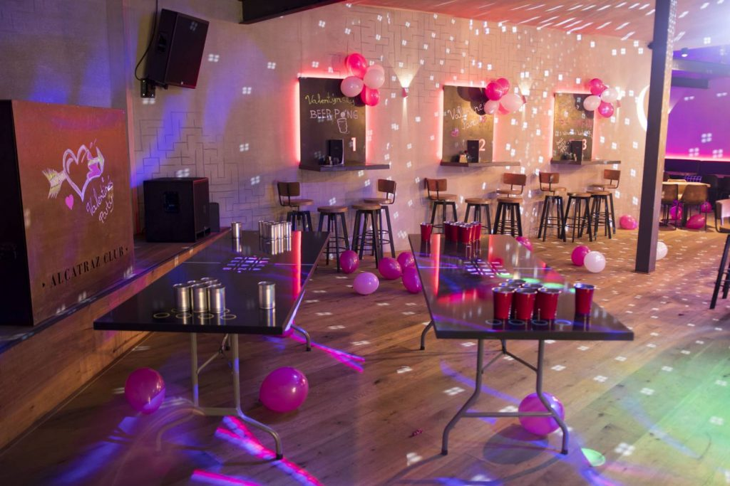 Valentine party a interiér klubu